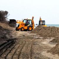Lavori in corso sulle dune di Serra degli Alimini, controlli della Capitaneria: tutto regolare