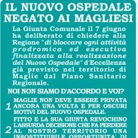 """Maglie, manifesto dell'opposizione:  """"La giunta non blocchi il nuovo ospedale"""""""