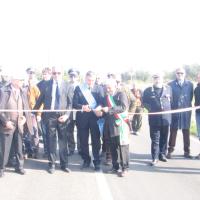 Cerimonia di inaugurazione della Strada Provinciale 148 in ricordo di Vittorio Potì