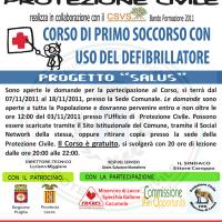 Minervino: via a Salus, corso di primo soccorso e uso del defibrillatore portatile