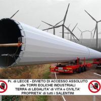 Stop al mega eolico nel Parco dei Paduli in feudo di Supersano