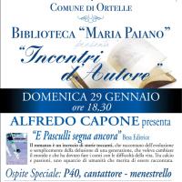 """""""Incontri d'autore"""": Alfredo Capone chiude il primo ciclo di incontri"""