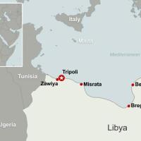 Bombe francesi sulla Libia, Mediterraneo in assetto di guerra